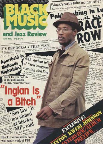 Black Music magazine - Linton Kwesi Johnston