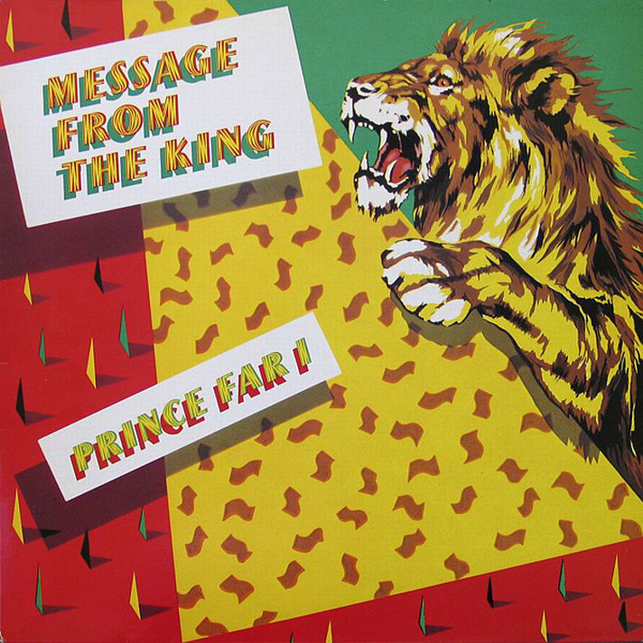 Prince Far I - Message From The King LP sleeve