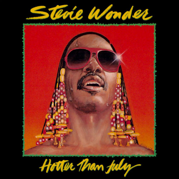 Stevie Wonder: Hotter Than July LP sleeve